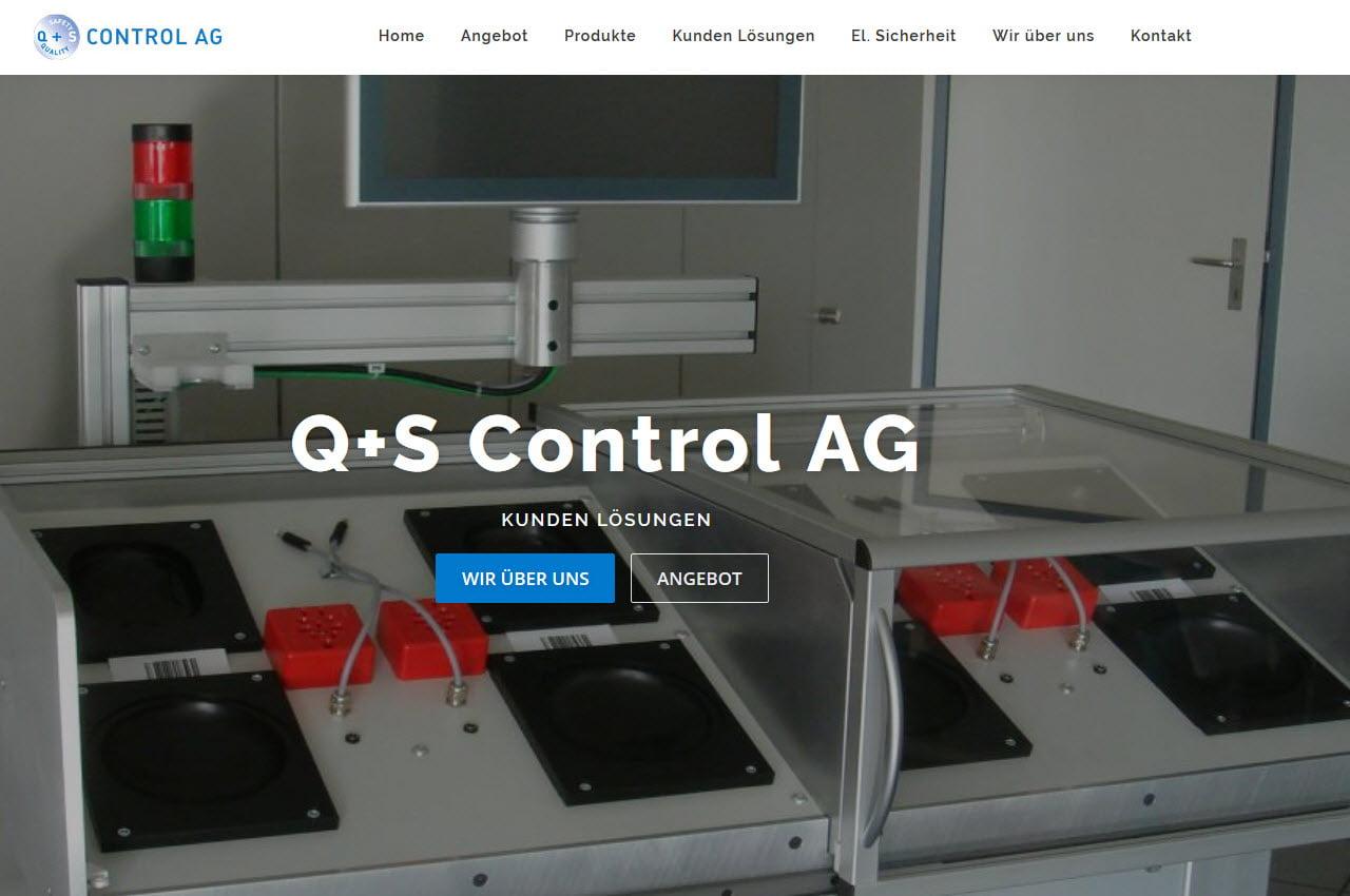 Referenz Webdesign Q+S Control AG